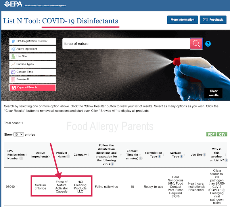 disinfectant-for-covid-approved-cleaner-sars-cov-2-force-of-nature-cleaner-review-food-allergy-parents