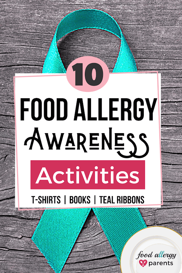 food-allergy-awareness-week-activities-shirts-books-teal-ribbons-food-allergy-parents-pinterest